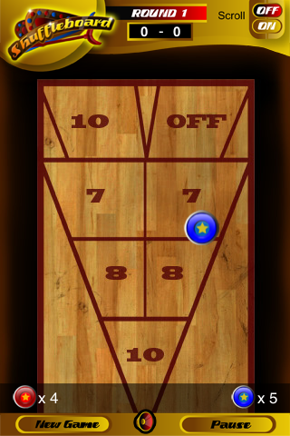 Screenshot iShuffleBoard Lite